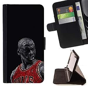 - Bull Chicago Basketball - - Caso de la cubierta de la piel cierre magn????tico Cartera de cuero del tir????n FOR Apple Iphone 4 / 4S Gaga Case