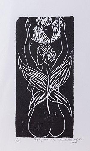 Xilography, Protecting us, artwork prints woodblock print, handmade printed, Mother Nature, Costa Rica, home decor, Black friday, Christmas, Sabrina Vargas-Jimenez