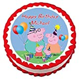 """Peppa Pig Edible Frosting Sheet Cake Topper - 7.5"""" Round"""