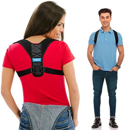 Posture Corrector for Men and Women - Comfortable Upper Back Straightener Brace, Clavicle Support Adjustable Device for Thoracic Kyphosis and Providing Shoulder - Neck Pain Relief