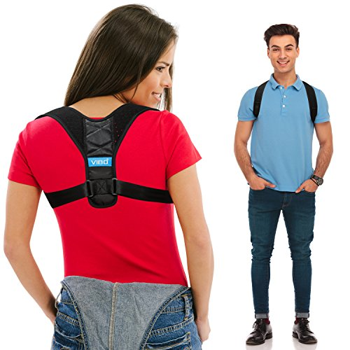 "Posture Corrector for Men and Women - Upper Back Straightener Brace, Clavicle Support Adjustable Device for Thoracic Kyphosis and Providing Shoulder - Neck Pain Relief(Fits Chest Size 35"" - 41"")"