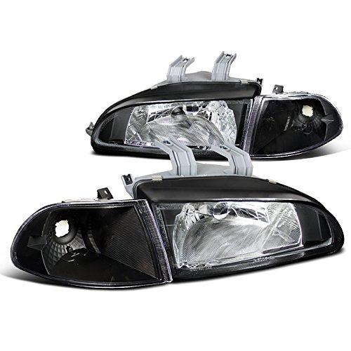 Honda Civic Ex Lx Dx 2 4 Door Sedan Coupe, Black Headlights, Orange Corner Lamps