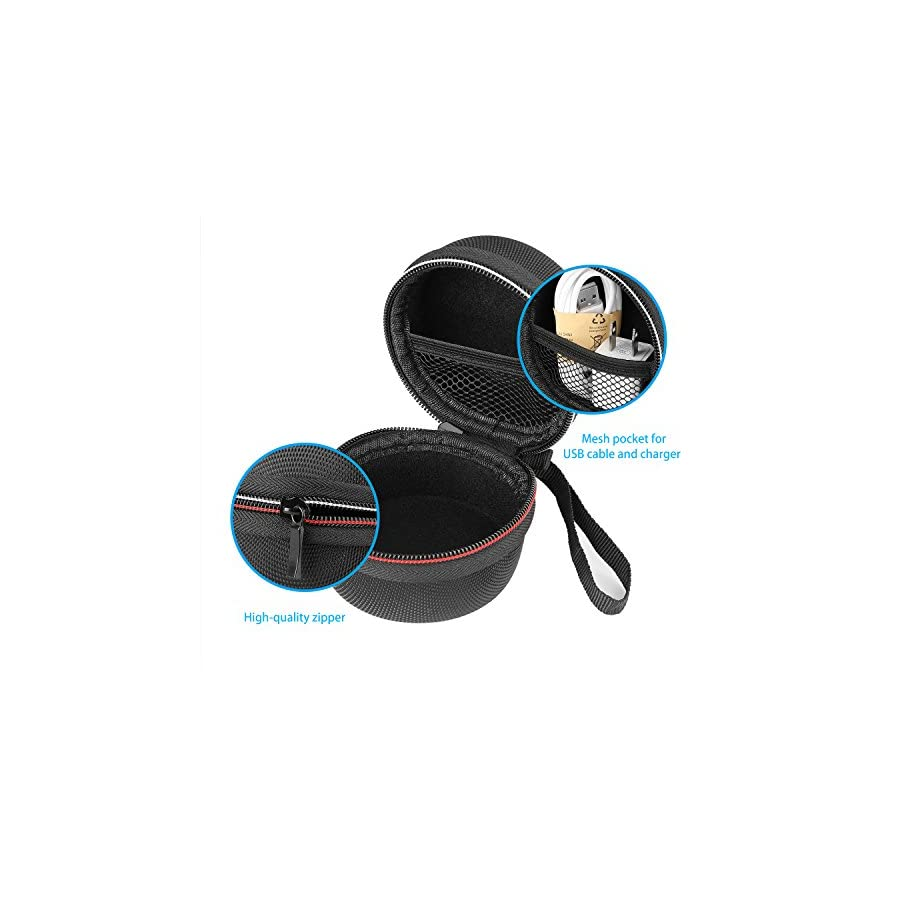 Maxchange Carrying Bag for Echo Dot, Travel Protective Bag with 2 Silicone Protective Cases for Echo Dot 2nd Gen