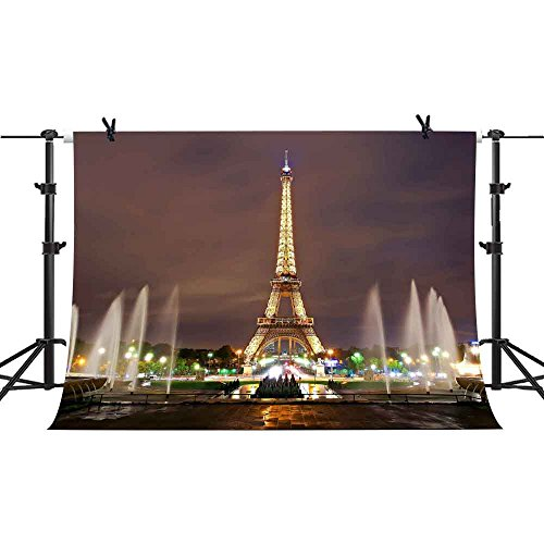 ackdrop Musical Fountain Photography Background Wedding YouTube Theme Birthday Party Backdrops Studio Props PHMOJEN GEPH001 ()