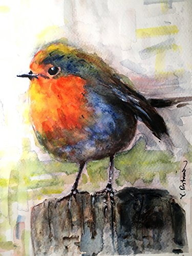 Aceo Bird - Original/Print of the Watercolor Painting