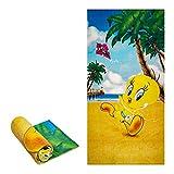 "JPI Beach Towel - Tweety iPod - Oversized 58"" x 28"" - for Pool, Bath, Yoga, Gym, Travel, Camping, Beach Cart & Beach Chairs"