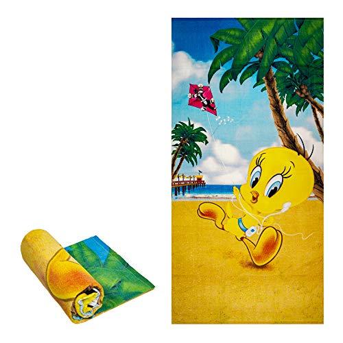 "JPI Beach Towel - Tweety iPod - Beach Towel Oversized 58"" x 28"" - Use as Luxury Bath Towel, Yoga Towel, Travel Towel, Camping Towel, Gym Towel, Pool Towels, on Beach Cart & Beach Chairs"