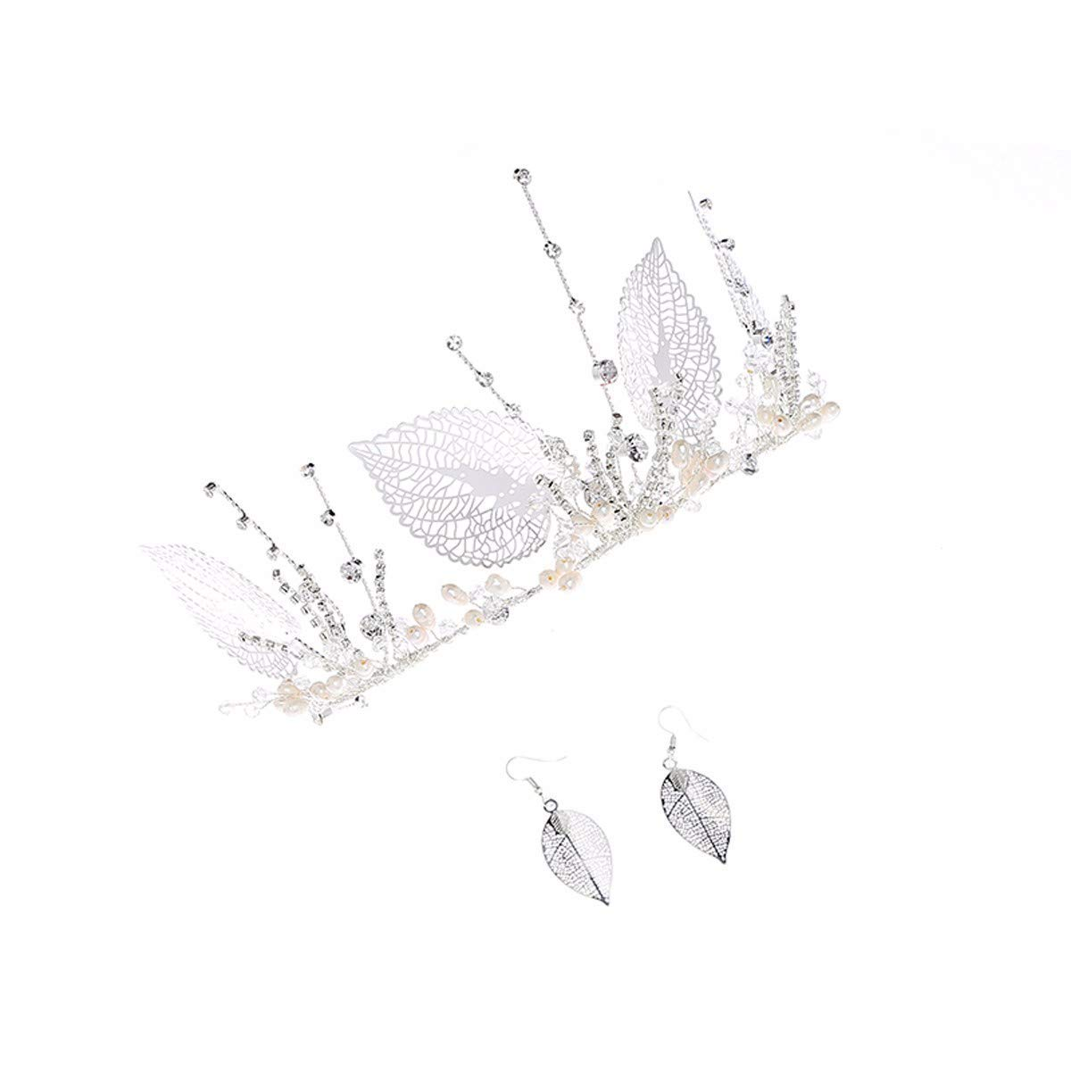 Wedding Crown, Beautiful headdress/Bridal Crown Earrings Wedding Dress Accessories Bridal Accessories Performance Shows Wedding Accessories.