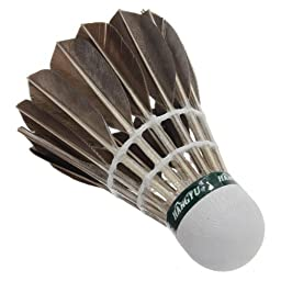 12pcs Training Goose Feather Shuttlecocks Badminton Balls Game Sport