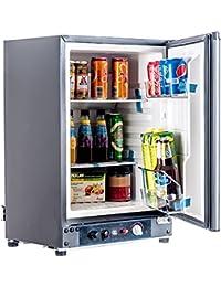 Smad RV Fridge Single Door 110V/12V/Lpg Refrigerator, 60L ,Black