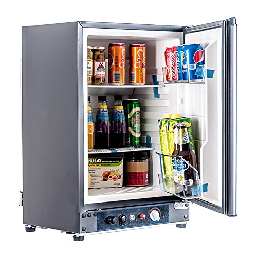 SMETA 12V 110V Gas Propane Refrigerator RV Truck Portable fridge Cooler (2.1 Cu.ft)