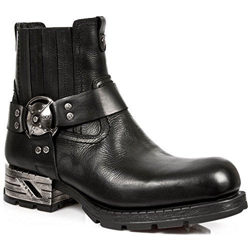 Classiques Rock Homme s1 M New 001 mr007 Bottes Noir qfwXaSH