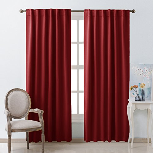 Cheap Living Room Rod Pocket Curtains Pair