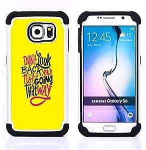 """Pulsar ( Amarillo texto Funky inspirador mensaje"""" ) Samsung Galaxy S6 / SM-G920 SM-G920 híbrida Heavy Duty Impact pesado deber de protección a los choques caso Carcasa de parachoques"""