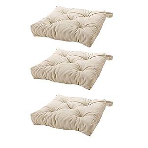 Ikea's MALINDA Chair cushion (3, Light Beige)