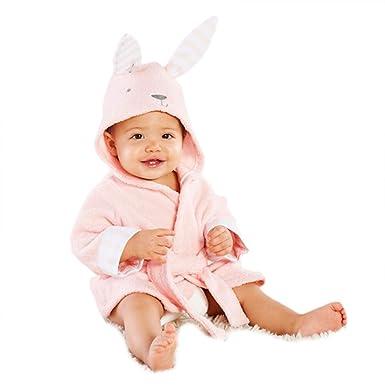 Casa Kinder Morgenmantel - Baby Bademantel mit Kapuze, Fleece ...