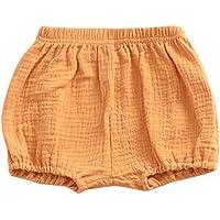 DDbrand Verano Infantil Bebitos Playa Pantalones Cortos Algodón Lino Pantalones Casual Inferior PP Bloomer Pañal…