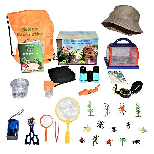 Happy Packz Bug Catcher Kit for Kids 30 PCS, Hat, Kids Camping Stuff, Bug Catcher, Bug Toys, Camping Toys, Compass for…