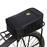 Bike Rear Bag, Bicycle Back Seat Pannier/Outdoor Sports Cycling Rack Pack Carrier Accessories/Waterproof Storage Trunk Pouch - Black