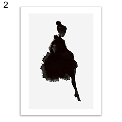potato001 Women Hot Lips Girl Dancer Wall Art Poster Canvas Painting Living Room Bedroom Home Decor