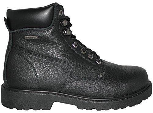 Mens Konstruktion Olja / Nötningsbeständigt Läder Arbete Boot I Vete, Svart, Eller Bruna Storlekar 6-13 Svart