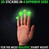 Glow in The Dark Stars and Dots 332 3D Wall