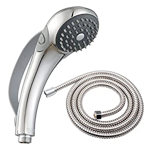 Deliao Handheld Shower Head Set With 79 Inch Shower Hose Home Care 2  Settings Hand Shower Kit Control Button And Convenient Push Button Pause  Control Kids ...