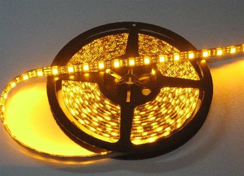 Amber/Yellow LED Flex Strips -12vdc, IP68 WP, Double Density 5050 LEDs (Led Flex Strip Aquarium)