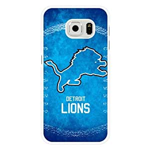 Samsung Galaxy S6 Case, Customized NFL Detroit Lions Logo White Hard Shell Samsung Galaxy S6 Case, Detroit Lions Logo Galaxy S6 Case(Not Fit for Galaxy S6 Edge)