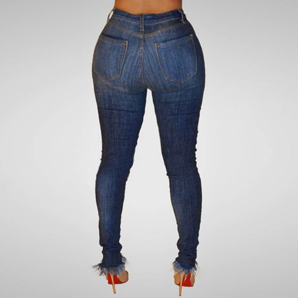 HYIRI clearence!Stretch Slim Pants Calf Length Jeans ...