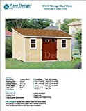 Lean To Roof Style 10' x 14' Deluxe Shed Plans Design # D1014L, Material List and Step By Step Included