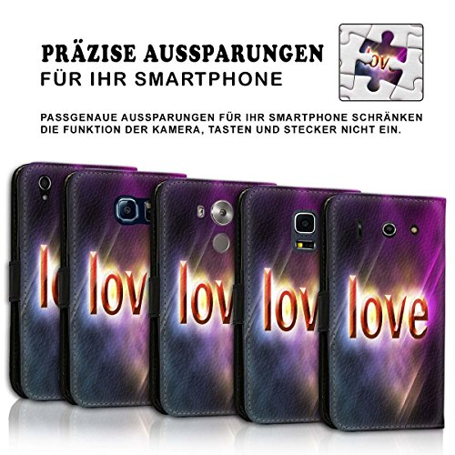Wallet Book Style Flip Handy Tasche Case Schutz Hülle Schale Motiv Etui für Apple iPhone 4 / 4S - Design Flip MVD317