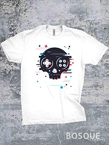 - Gamer Glitch Skull Classic Retro Video Games Metal Music Twitch JGroove TiffanyTv 80s Kids with Kids T-Shirt - Ink Printed shirt