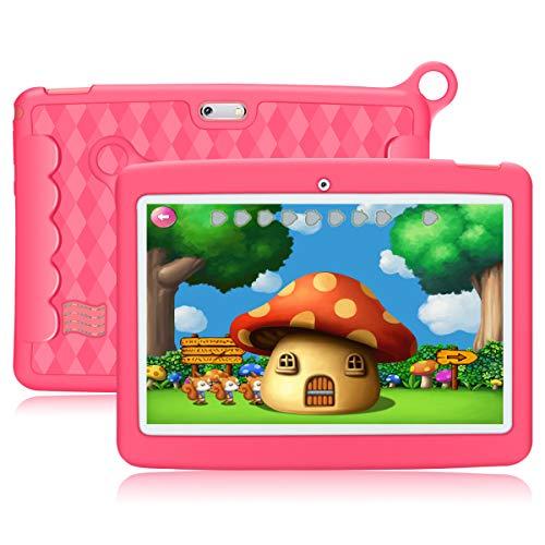 """10.1"""" Inch Kids Tablet,PADGENE Android 8.1 Pad Quad Core Processor,1280×800 IPS HD Display,1GB Ram 16GB Rom,Kidoz…"""