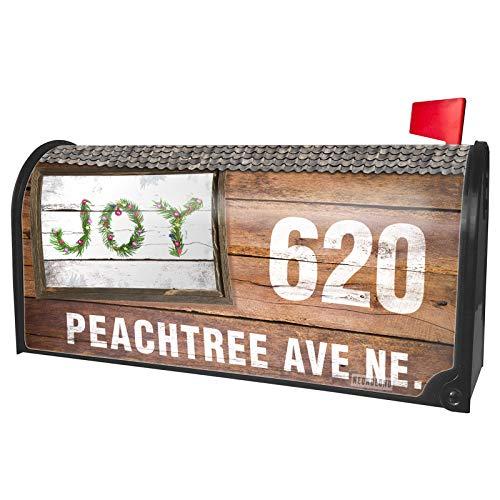 NEONBLOND Custom Mailbox Cover Joy Christmas Tree -