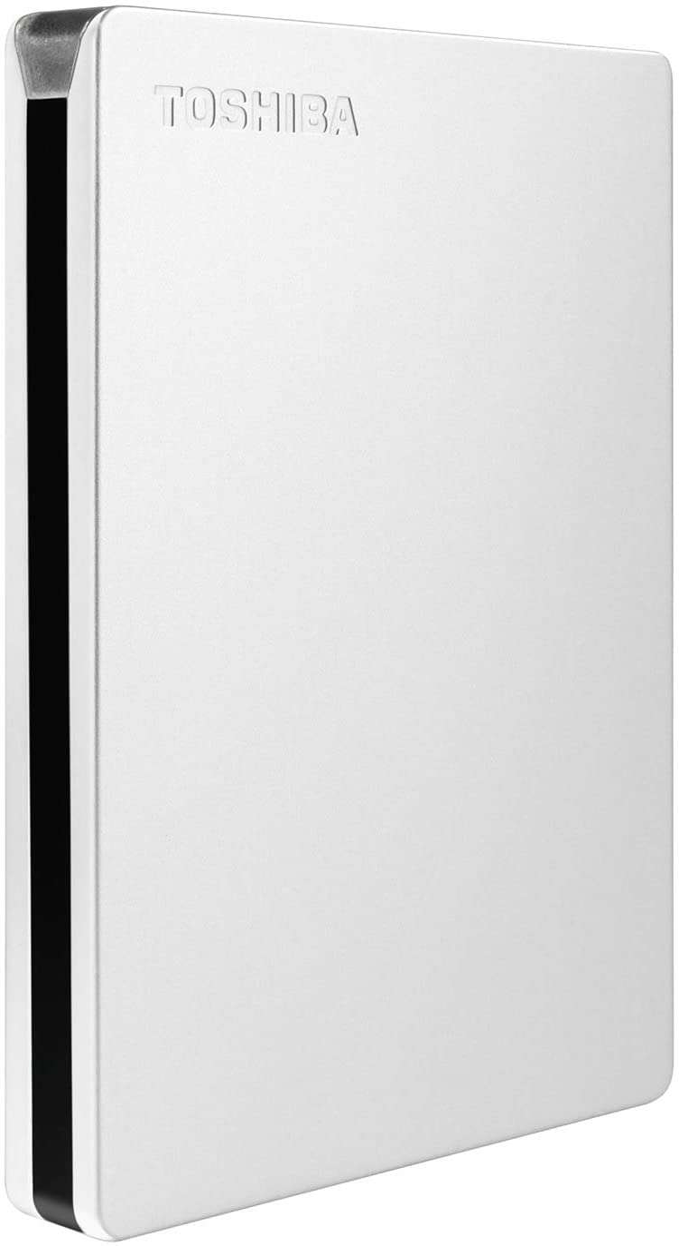 Toshiba Canvio Slim 2TB Portable External Hard Drive USB 3.0, Silver (HDTD320XS3EA)
