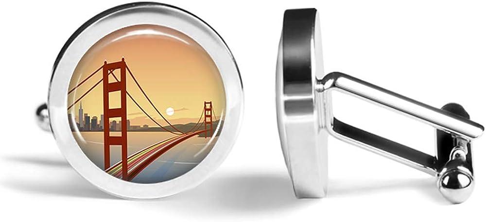 Golden Gate San Francisco Men/'s Cufflinks Cuff Links Set