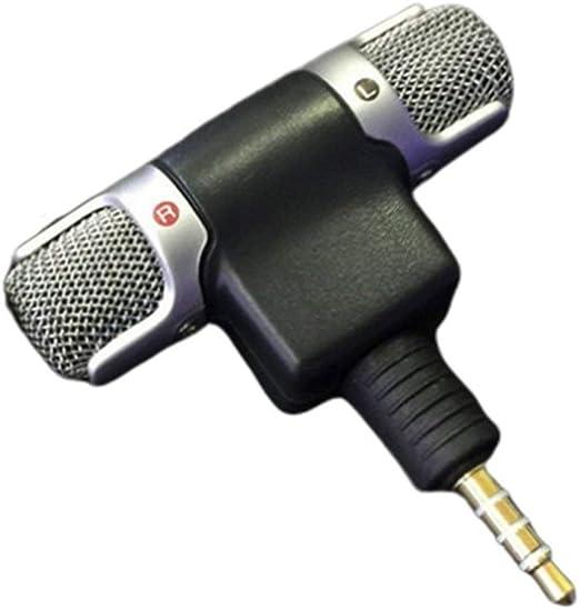 Deniseonuk Mini Jack Microphone Stereo Mic For Recording Mobile ...