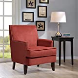 Colton Track Arm Club Chair Red See below
