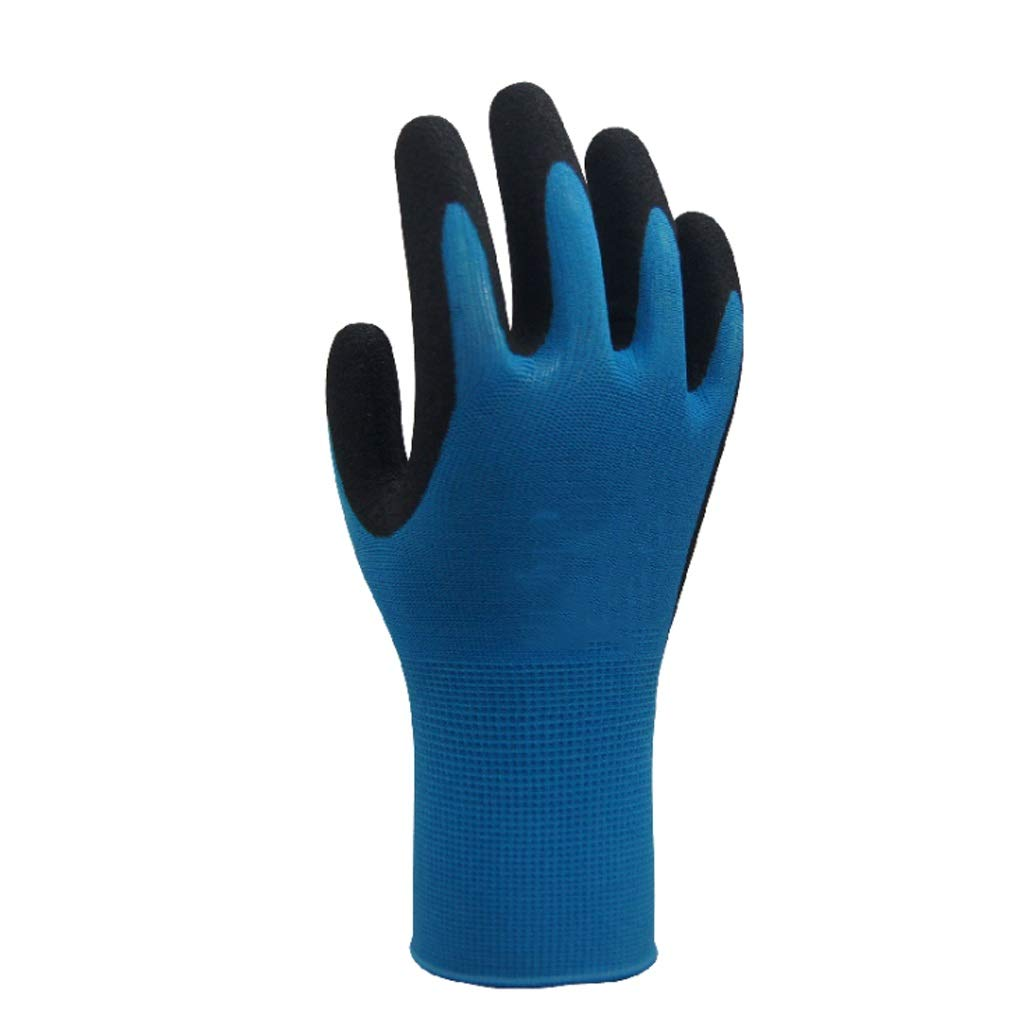 LDKFJH Work Gloves Gardening,Nylon Knit Industrial Gloves with,for Men and Women Gardening, Breathable,Knit Wrist Cuff (Color : C)
