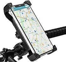 自転車スマホホルダー オートバイ バイク GPSナビ 携帯 固定用 スマホホルダー 360度回転 伸縮アーム 多重ロック 落下防止 振れ止め 自転車ホルダー 携帯ホルダー 3.5-6.5インチ Android/iPhone多機種スマホ対応...