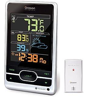 c9af9ff73 Oregon Scientific Wireless Weather Station Featuring Temperature Forecast  Atomic Clock Ice Alert Calendar Humidity - Color