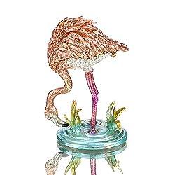 Crystal Jeweled Flamingos Trinke Keepsake Box
