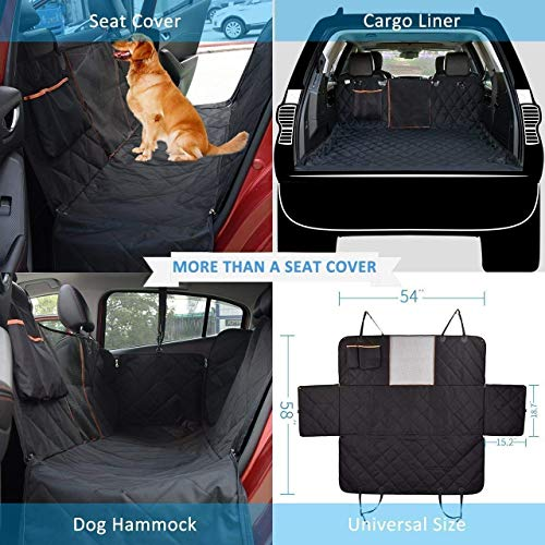 Dog Seat Cover With Mesh Viewing Window Omorc Waterproof