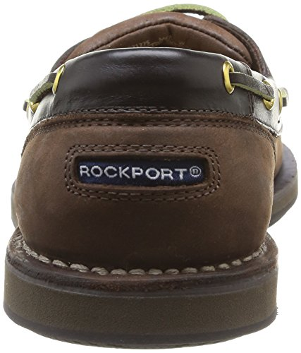 Rockport Aanloophavens Perth K54692, Herren Bootsschuhe, Braun (dk Bruine Pull Up), Eu 44 (uk 9,5) Chocolade / Schors
