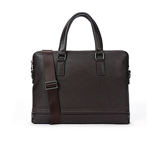 Cross Men's Head Briefcase Leather Men's Business Layer Bag Satchel Notebook Business Qi Brown Suitable Vintage Casual Cowhide Bag Men's For Section 85Iwtx