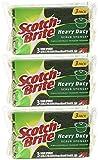 Scotch-Brite Heavy Duty Scrub Sponge, 3-Count (Pack of 3) Total 9 Sponges