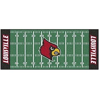 FANMATS NCAA University of Louisville Cardinals Nylon Face Football Field Runner