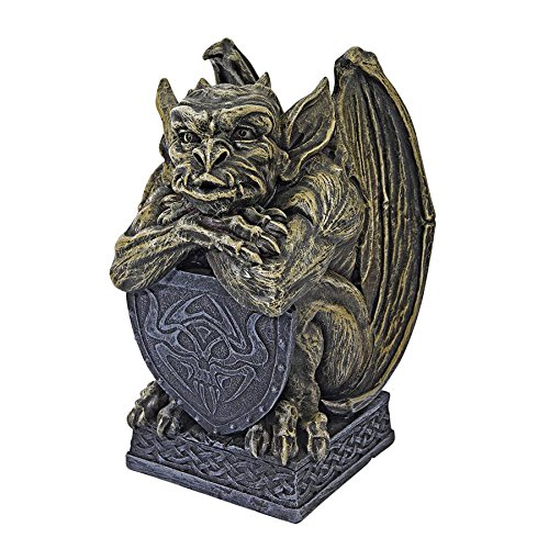 Design Toscano Medieval Marauder Gargoyle Statue, Gray Stone