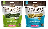 Merrick Small Dog Grain Free Dental Health Bones 2 Flavor Variety Bundle, 1 each: Fresh Kisses Coconut Oil and Fresh Kisses Mint (9 Count)